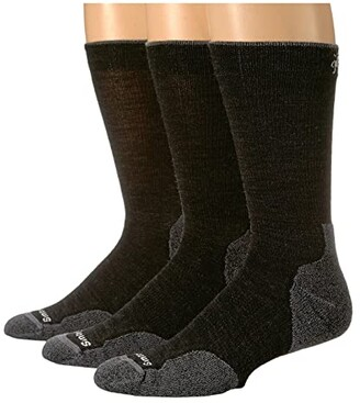 Smartwool PhD Outdoor Light Crew 3-Pack (Charcoal) Men's Crew Cut Socks Shoes
