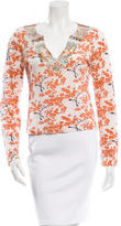 Etro Beaded Floral Top