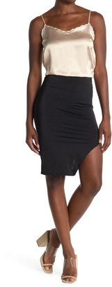 Know One Cares Faux Leather Bodycon Skirt