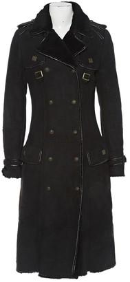 Just Cavalli Black Suede Coat for Women