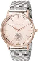 Vince Camuto Women's VC/5315RGTT Swarovski Crystal Accented Rose Gold-Tone and Silver-Tone Mesh Bracelet Watch