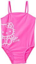 Hello Kitty Girls' Pink Solid Logo One Piece (2T4T) - 8129653