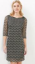 Esprit Layered dress w crocheted details