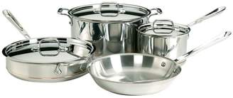 All-Clad Seven-Piece Stainless Steel Copper Core Cookware - Induction Ready