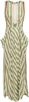 3.1 Phillip Lim Striped Satin-twill Midi Dress