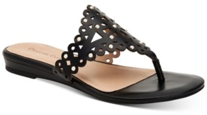 Charter Club Omanii Thong Slide Flat Sandals, Created for Macy's Women's Shoes