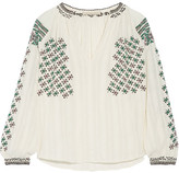 Vanessa Bruno Fileas Embellished Cotton-gauze Blouse - Cream