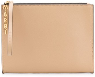 Marni Leather zip pouch