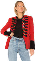 Free People Seamed and Structured Blazer in Red. - size L (also in S)