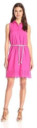 Bass G.H. & Co. Women's Scalloped Embroidery Dress