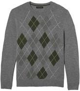 Banana Republic Wool-Blend Arglye Sweater