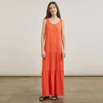 Elizabeth and James Women's Drop Waist Tiered Maxi Dress