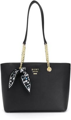 DKNY Scarf Detail Logo Tote Bag