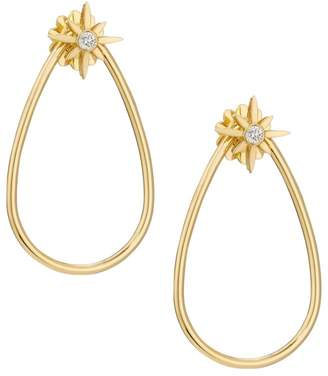 Roberto Coin Disney x Princess Cinderella Diamond Stud &18K Yellow Gold Teardrop Hoop Jacket Earring Set