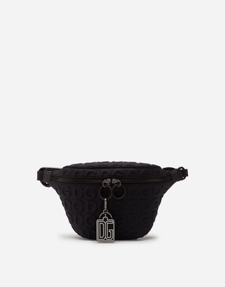 Dolce & Gabbana Neoprene Palermo Tecnico Belt Bag With All-Over Detailing