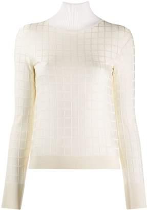 Chloé square pattern jumper