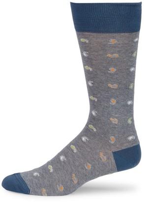 Saks Fifth Avenue COLLECTION Mid-Calf Paisley Socks