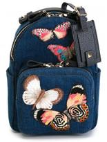 Valentino butterfly denim backpack