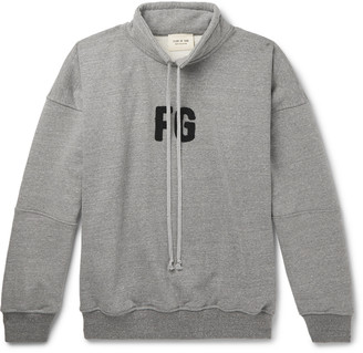 Fear Of God Logo-Appliqued Melange Loopback Cotton-Blend Jersey Sweatshirt