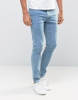 Asos Extreme Super Skinny Jeans In Light Wash