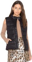 Monrow Vegan Leather Puffer Down Vest
