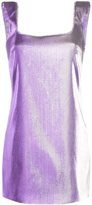 Area Low-Back Iridescent Mini-Dress