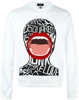 DSQUARED2 screaming graphic sweatshirt - men - Cotton - S