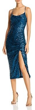 Aqua Sequined Ruched Dress - 100% Exclusive