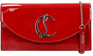 Christian Louboutin Loubi 54 Clutch In Red Patent Leather