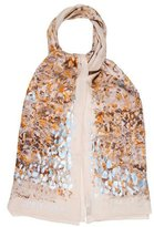 Jimmy Choo Printed Silk Scarf w/ Tags