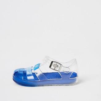River Island Mini boys blue Prolific jelly sandals