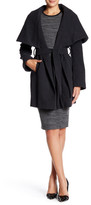 Tahari Marylin Wool Blend Tie Coat