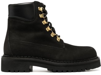 Moschino Lace-Up Ankle Boots