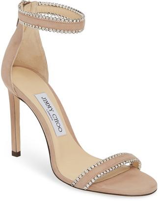 Jimmy Choo Dochas Embellished Ankle Strap Sandal