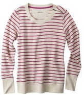 Merona Women's Striped Pullover Top w/Zipper - Assorted Colors