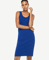 Ann Taylor Exposed Back Zip Sheath Dress