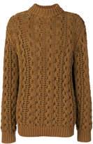 Salvatore Ferragamo cable-knit turtleneck jumper