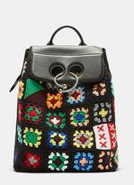 J.W.Anderson Crochet Knit Pierced Backpack in Black
