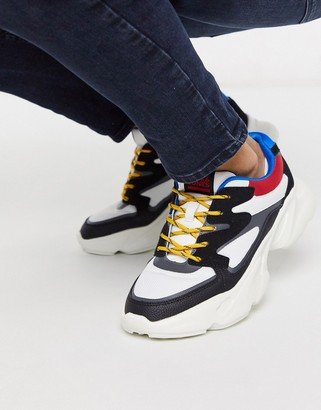 Jack and Jones sneakers with chunky sole and contrast panels
