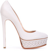 Casadei chain-effect platform pumps - women - Leather/Nappa Leather/Kid Leather - 35.5