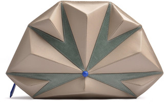 Ostwald Finest Couture Bags Diamond Masterpiece In Grey Salvia Green & Royal Blue
