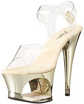 Pleaser USA Women's MOON708DMCH/C/G Platform Dress Sandal