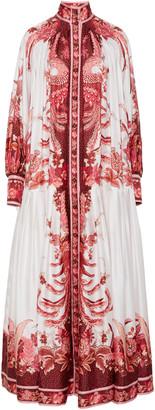Zimmermann Wavelength Printed Silk Maxi Dress