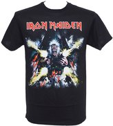 Global Iron Maiden Men's Tailgunner Explodes T-Shirt Black