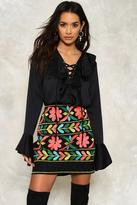 Nasty Gal nastygal Mena Embroidered Mini Skirt