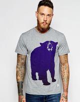 Penfield T-shirt With Big Bear Print - Grey