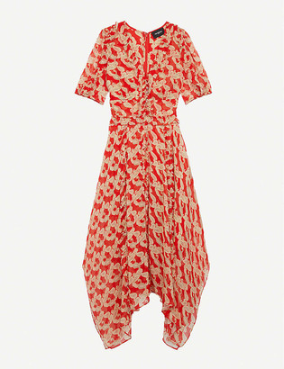 The Kooples Printed chiffon midi dress
