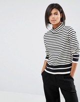 Whistles Funnel Neck Stripe T Shirt