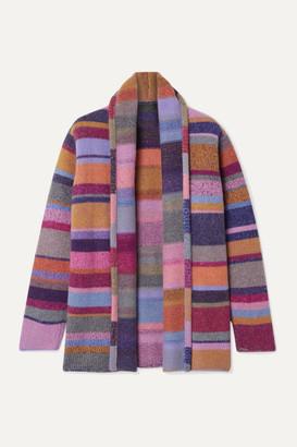 The Elder Statesman Striped Cashmere Cardigan - Pink