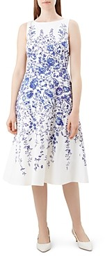 Hobbs London Evelyn Floral Fit-and-Flare Dress